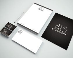 Part of a branding package for 815 Events DJ service