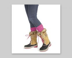 E-commerce photo for Bearpaw socks and boots