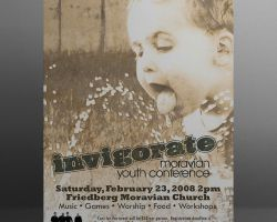 Poster for a youth conference and concert