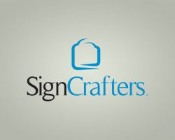 Logo for a sign printer and manufacturer, formerly located in Winston-Salem, NC