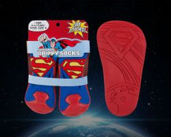 Packaging and product design for a series of rubber-soled socks for Warner Bros./DC Comics