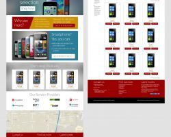 New website UI mockup for Long Wireless Communications